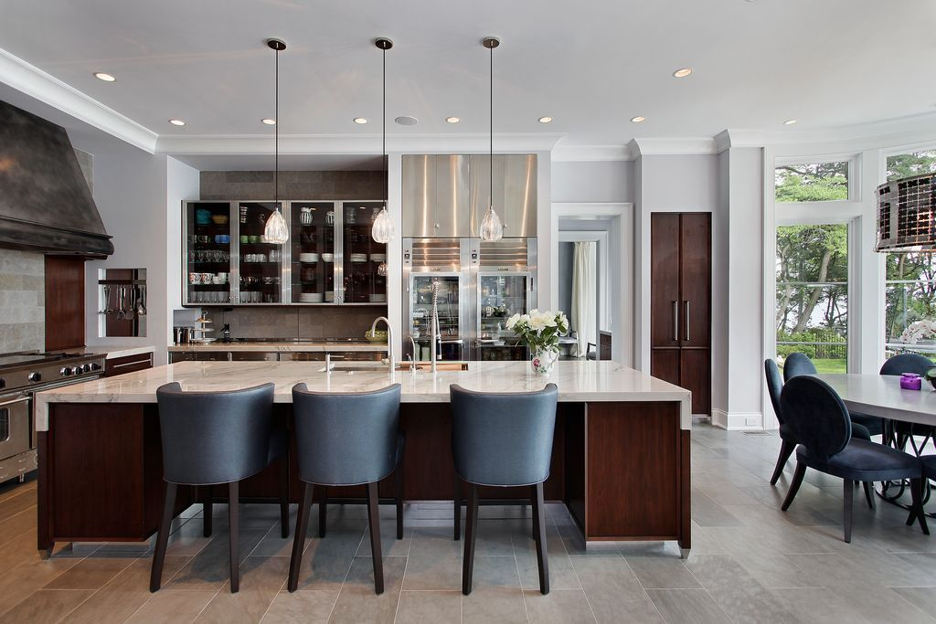 Trends in the home decor construction for Dining room next to kitchen
